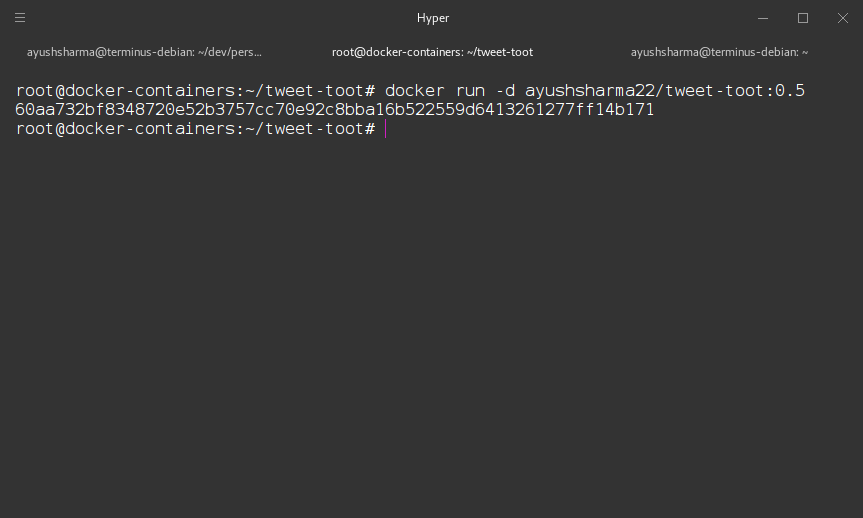 Running our Docker container in production.